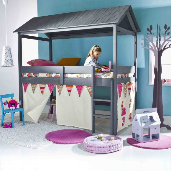 lit cabane pour enfant. Black Bedroom Furniture Sets. Home Design Ideas