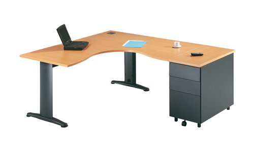 Choisir son bureau meuble for Bureau en angle
