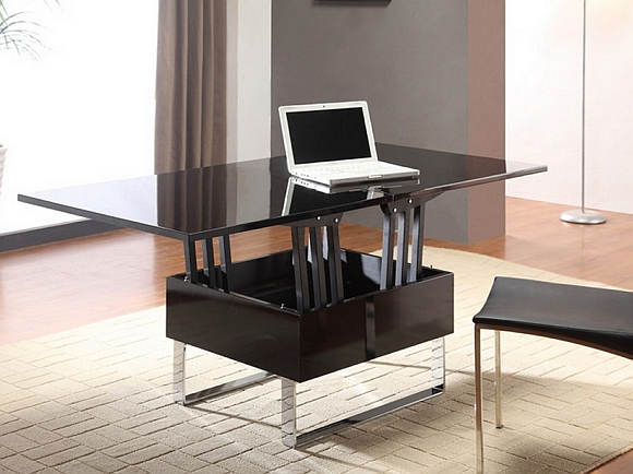 Choisir une table basse meuble - Table de salon convertible ...